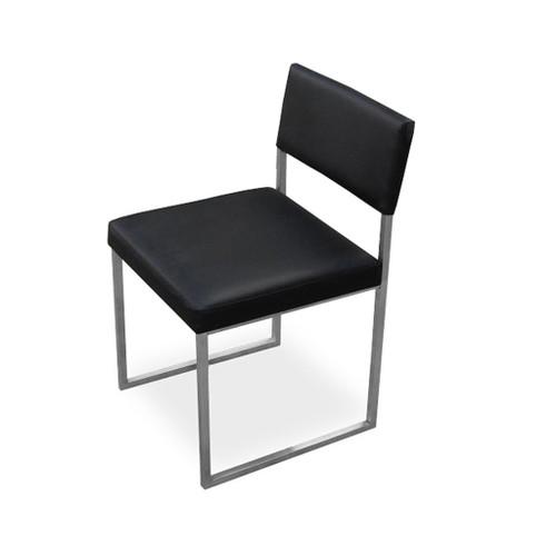 Gus Modern Black Leather Graph Chair