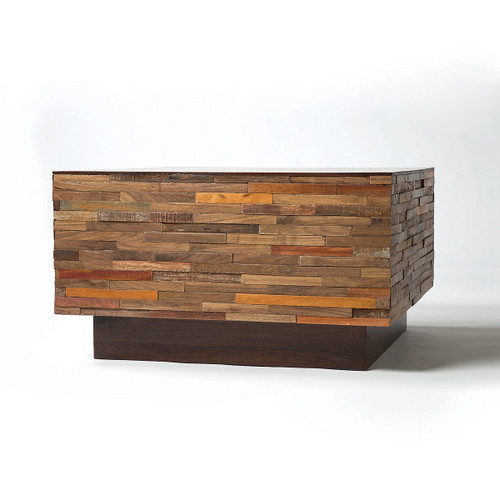 Landon Mixed Wood Square Coffee Table Zin Home