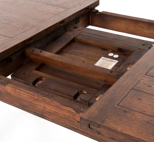 Coastal Rustic Reclaimed Wood Extendable Dining Room Table Top