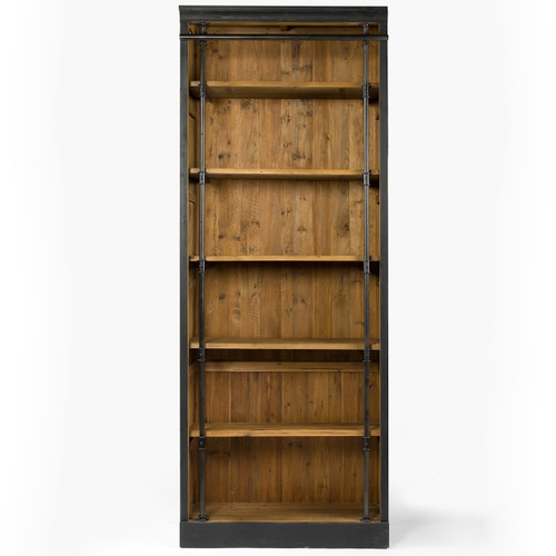 French Library Single Bookshelf-Black