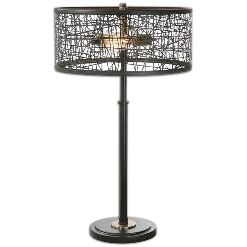 Alita Rustic Black Metal Table Lamp