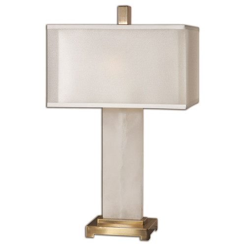 Athanas White Alabaster Table Lamp