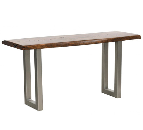 Montana Solid Wood Metal Leg Console Table