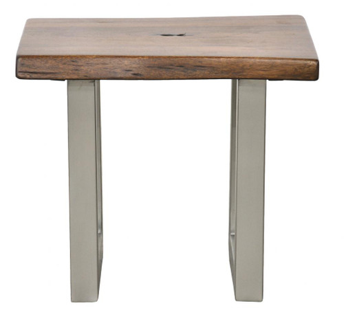 Montana Solid Wood Metal Leg Side Table