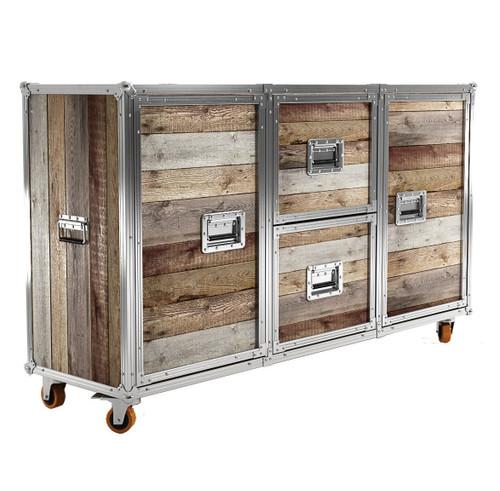 Modern Industrial Loft Reclaimed Teak Buffet Sideboard