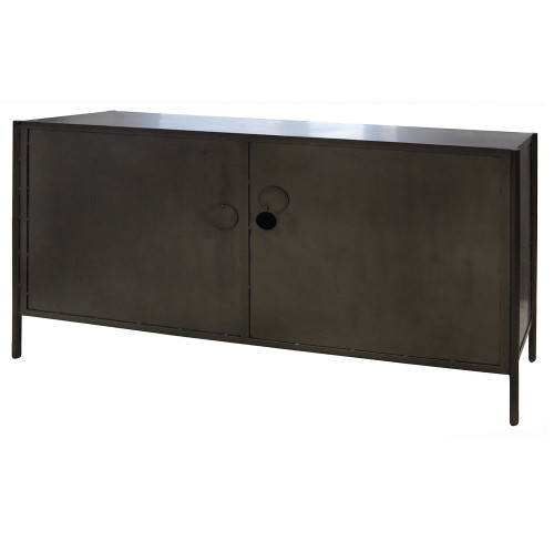 Magnificent Aged Black Metal Media Console Sideboard Home Interior And Landscaping Mentranervesignezvosmurscom