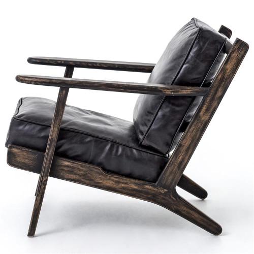 ... Mid-Century Modern Brooks Leather Lounge Chair ...  sc 1 st  Zin Home & Mid-Century Modern Brooks Leather Lounge Chair | Zin Home