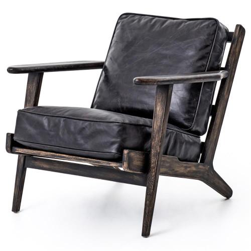 Mid-Century Modern Brooks Leather Lounge Chair