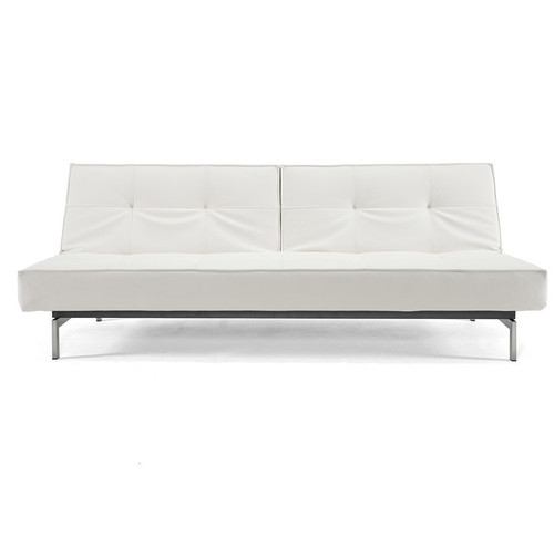 Splitback Leather Convertible Sofa Bed