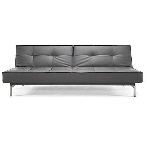 Modern Splitback Leather Convertible Sofa Bed | Zin Home