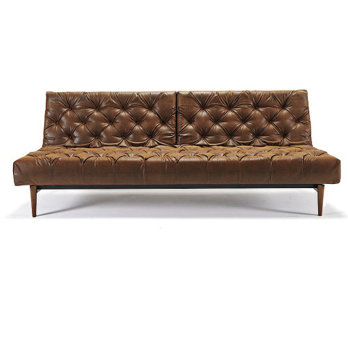 Oldschool Vintage Leather Chesterfield Sofa Bed | Zin Home