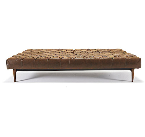 Oldschool Leather Chesterfield Sleeper Sofa Bed