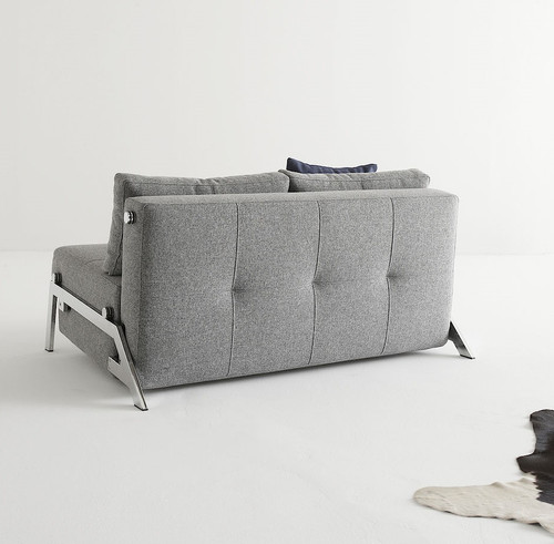 Cubed Deluxe Full Size Leather Sleeper Sofa Bed