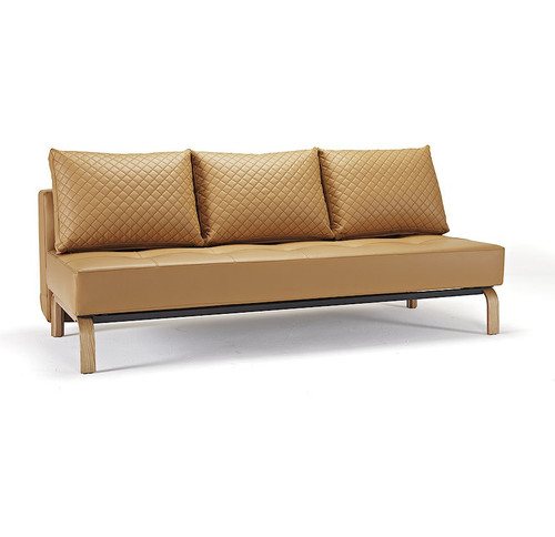 Sly Deluxe Q Full Size Convertible Leather Sofa Bed | Zin Home