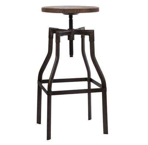 Amazing Industrial Rustic Wood And Metal Bar Stool Inzonedesignstudio Interior Chair Design Inzonedesignstudiocom