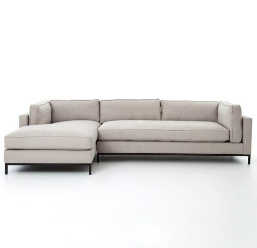 Modern sectional sofas Blue Modern Sectional Sofas In White Linen Zin Home Grammercy Linen Upholstered Modern Piece Sectional Sofa Zin Home