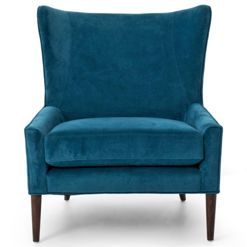 Terrific Marlow Upholstered Blue Wing Chair Alphanode Cool Chair Designs And Ideas Alphanodeonline