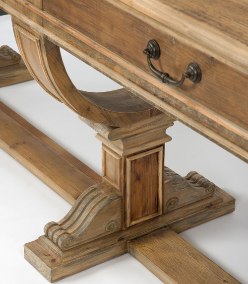 Sergio Rustic Reclaimed Wood Console Table With Drawers Zin Home
