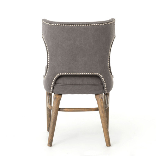 Remarkable Task Dark Gray Nailhead Wing Dining Chair Gmtry Best Dining Table And Chair Ideas Images Gmtryco