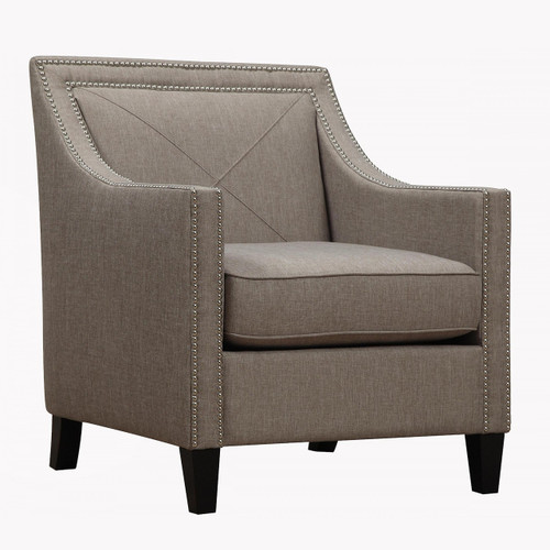 Asheville Light Grey Upholstered Linen ArmChair