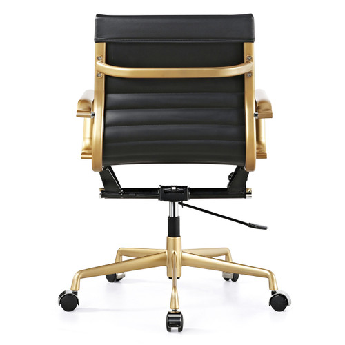 Peachy Gold Black Vegan Leather M348 Modern Office Chairs Ocoug Best Dining Table And Chair Ideas Images Ocougorg