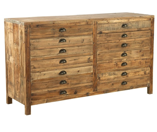 Apothecary Reclaimed Wood 8 Drawer Dresser