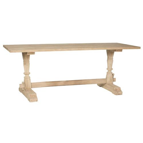 Aidan Gray Sigrid Natural Wood Trestle Oversized Sofa Table