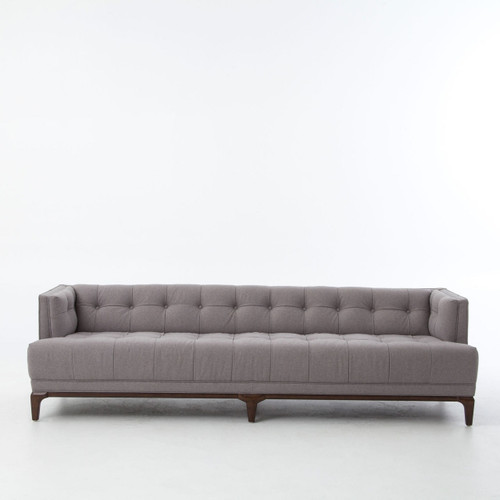 Dylan Mid Century Modern Low Back Grey Tufted Sofa 90 Zin Home