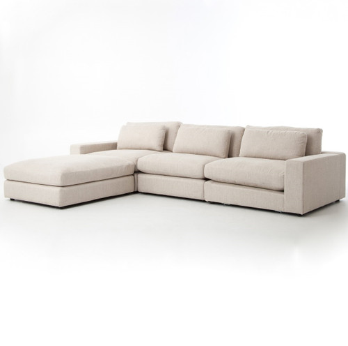 Stupendous Bloor Beige Contemporary 4 Piece Sectional Sofa Ncnpc Chair Design For Home Ncnpcorg