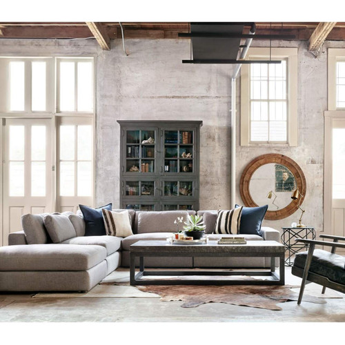 Bloor Gray Contemporary 5 Piece Corner Sectional Sofa