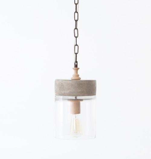 Concrete Mason Jar Small Chandelier