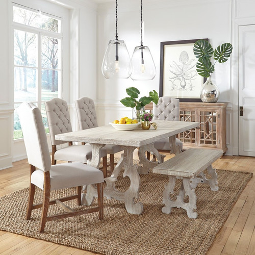 French Farmhouse Grey Dining Table 78\