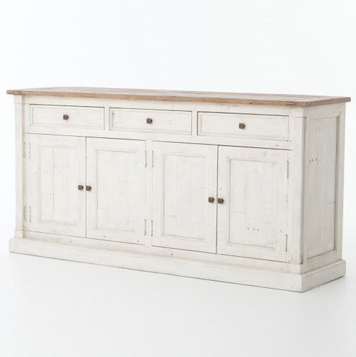 Ordinaire Cintra Reclaimed Wood White Sideboard Buffet ...