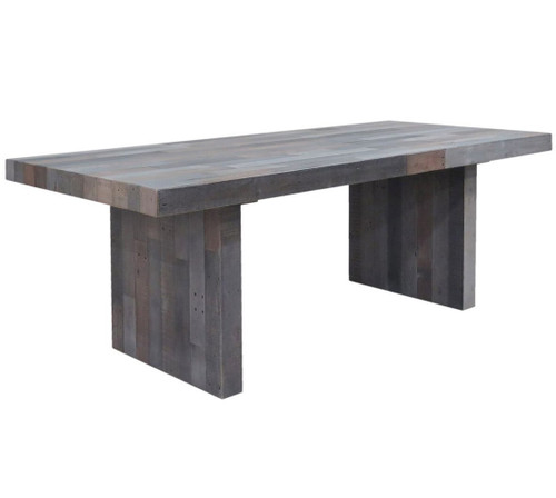 """Angora Storm Reclaimed Wood Dining Table 82"""""""