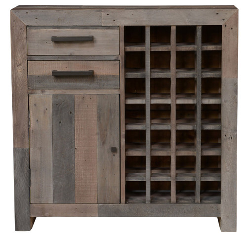 Angora Storm Reclaimed Wood Wine Cabinet