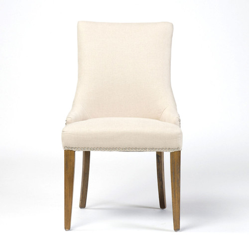 Fantastic Ashford Linen Upholstered Nailhead Dining Chair Gmtry Best Dining Table And Chair Ideas Images Gmtryco