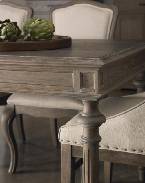 French Oak Tribeca Turned Leg Extending Dining Table