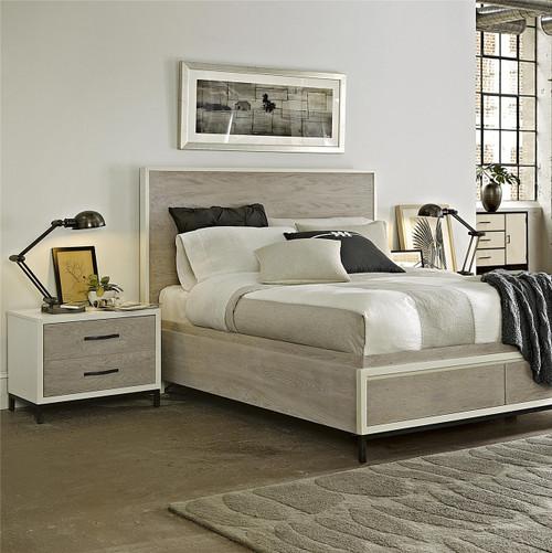 Modern Gray Platform Storage Bedroom Set King Zin Home