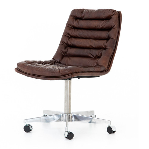 Malibu Distressed Whiskey Leather Office Desk Chair