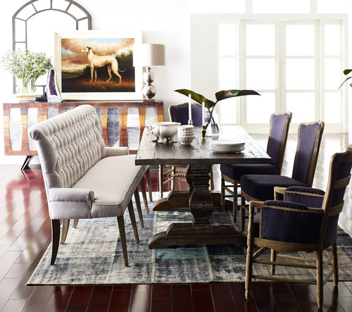 Remarkable French Tufted Upholstered Dining Bench Banquette Onthecornerstone Fun Painted Chair Ideas Images Onthecornerstoneorg
