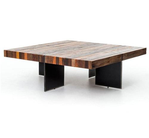 40 Metal Square Coffee Tables: Rustic Reclaimed Wood Coffee Tables