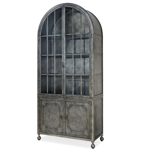 Maison French Industrial Metal Curio Display Cabinet ...