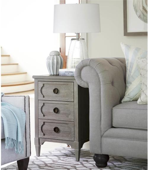Playlist Vintage Grey Oak 3 Drawers Side Table | Zin Home