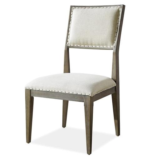 Playlist Vintage Oak Upholstered Dining Side Chair