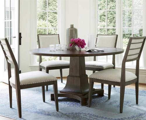 Playlist Vintage Oak 5 Piece Round Dining Room Set