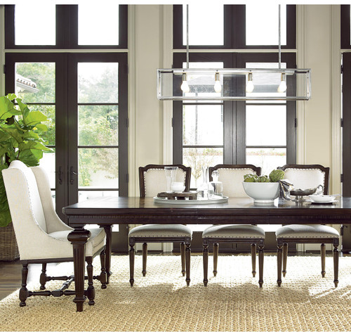 Proximity Upholstered Woven Back Dining Room Chairs