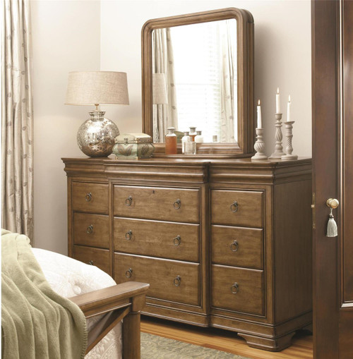 Louis Philippe Solid Wood 12 Drawers Dresser