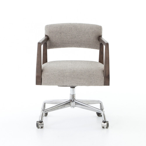 ... Tyler Mid-Century Modern Upholstered Office Desk Chair ...  sc 1 st  Zin Home & Tyler Mid-Century Modern Upholstered Office Desk Chair | Zin Home