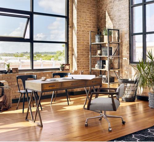 Tyler Mid Century Modern Upholstered Office Desk Chair Zin Home