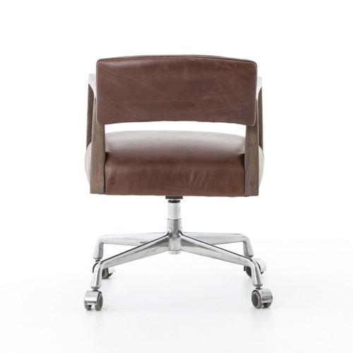 Tyler Mid-Century Modern Brown Leather Office Desk Chair
